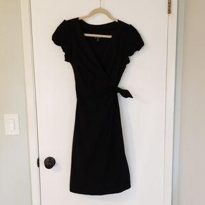 Le Chateau black faux wrap dress